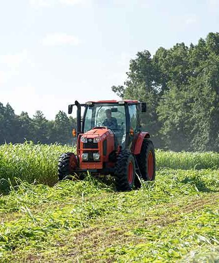 A tractor prepares this years crops